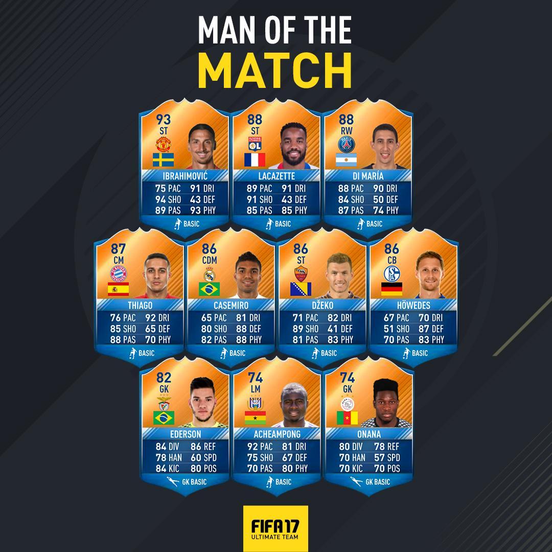FIFA 17: MOTMs