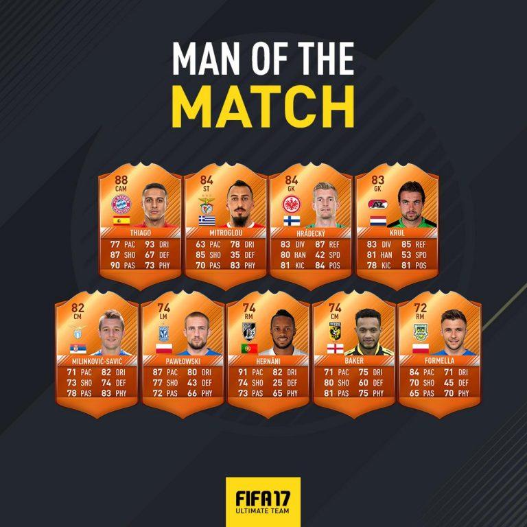 FIFA 17: Beker MOTM's