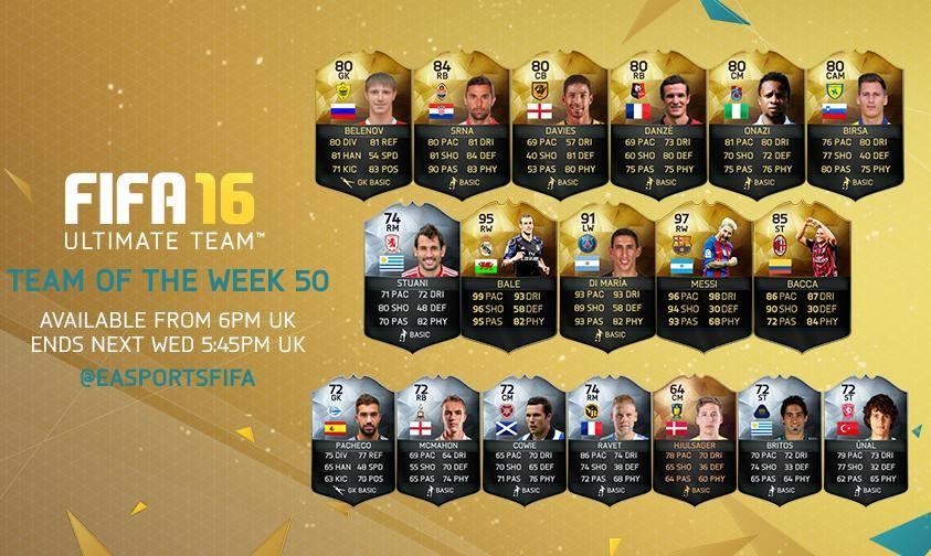 FUT 16: Team of the Week 50