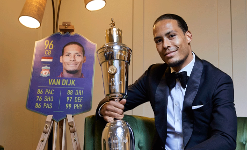 Virgil van Dijk PFA Speler van het Jaar
